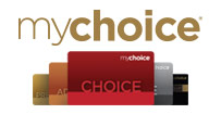 mychoice logo and cards